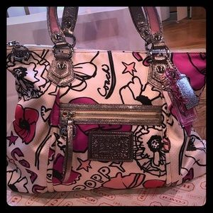 NWOT Coach Poppy Floral Petal Pink Glam Tote 16306